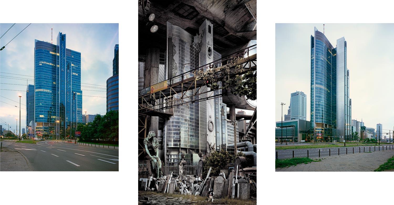 """Nicolas Grospierre, Kobas Laksa """"Rondo 1"""" (budynek biurowy, Warszawa. Autorzy: Skidmore, Owings & Merrill, Azo, Epstein)"""